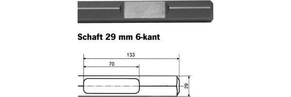 Schaft 29 mm 6-kant